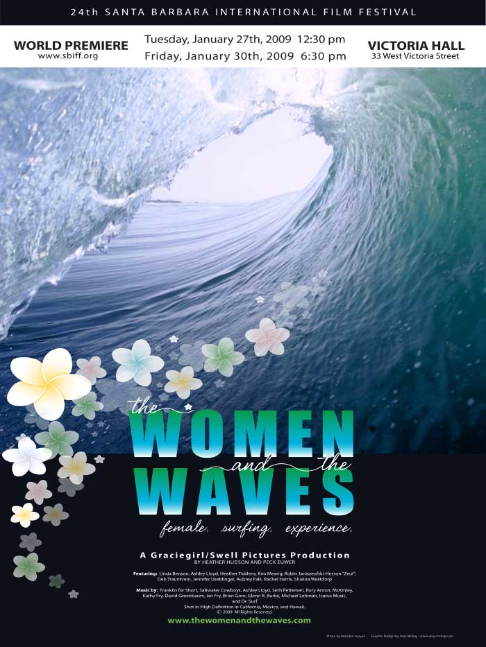 Women & The Waves surf film poster